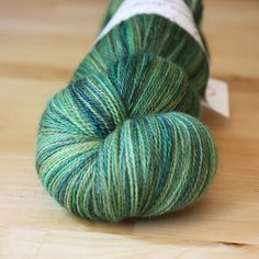 """Hand Dyed Lace Weight Yarn - """"Marian"""" - forest greens in merino wool/silk by phydeauxdesigns"""