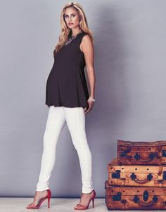 Black Swing Maternity Top | Seraphine | Maternity fashion | Stylish maternity tops
