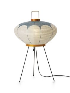 "Lamp for guest room with sleeper sofa on top of bookshelf Isamu Noguchi Akari Lamp 27"" tall Starting bid on ebay $485"