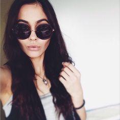 Selfie break with @iuliyakuper wearing the O in chestnut matte. #sunniesstudios | Sunnies Studios