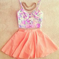 outfit muy tierno colores pasteles