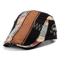 ea1c8619333 Men Cotton Washed Beret Hat Buckle Adjustable Paper Boy Newsboy Cabbie Golf  Gentleman Cap at Banggood