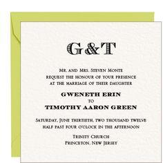 Capital Wedding Invitation - Gwen & Timothy