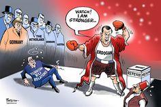 Paresh Nath - The Khaleej Times, UAE - Turkish-EU relations - English - Turkey, Erdogan, hitting Turkey-EU ties, Turkish-EU relations, Germany, nazism, fascism, Dutch, Netherlands, Turkey-Dutch row, Denmark, Austria, Turkish referendum, Erdogans power, show of strength, Presidency
