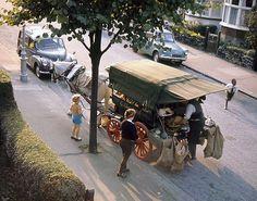 Croydon, 1965. Shepherd's horse-drawn cart on a Summer evening by Ian-S, via Flickr
