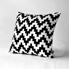 Geometric throw pillow black and white cushions 18 in