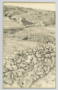 Vineyards with Their Watch Towers Date: between 1886 and 1889 Artist: Tissot, James Jacques Joseph, Parables Of Jesus, Tree Day, Life Of Christ, Castle Wall, Prince Of Peace, Light Of Life, A Christmas Story, New Testament, Religious Art