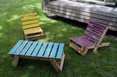 Pallet garden chairs Garden Ideas Upcycled Furniture Wooden Pallets