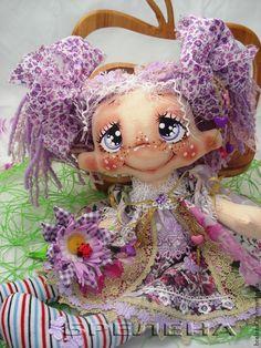 Текстильная кукла Сиреневая феечка. - сиреневый,интерьерная кукла,текстильная кукла