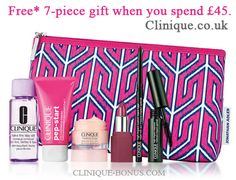 Bonus gift on Clinique.co.uk website - yours when you spend £45 or more. http://clinique-bonus.com/united-kingdom/