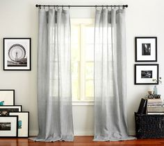 Find Belgian linen curtains from Pottery Barn and dress up your windows in style. Our collection features expertly crafted Belgian linen drapes and window panels. Custom Drapes, Decor, Curtains Living Room, Drapes And Blinds, Window Treatments Living Room, Belgian Linen Curtains, Linen Drapes, Living Room Windows, Home Decor