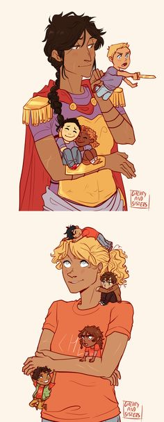 camp jupiter and camp half blood moms and their children | art by cherryandsisters