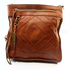 Lucky-Brand-NEW-Brown-Brandy-Leather-Baldwin-Crossbody-Bag-Purse-148-018