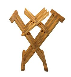 Wooden medieval folding chair by TabernaVagantis on Etsy