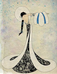 Sveta Dorosheva. Incrível trabalho dessa ilustradora israelense. Tem uma estética bastante oriental, e muitos trabalhos para conferir: http://www.behance.net/lattona