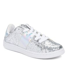 Look what I found on #zulily! Silver Glitter Stan Sneaker by Darling Diva #zulilyfinds