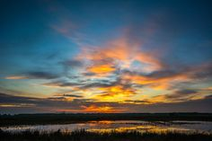Sunset over Bargerveen, The Netherlands by tara.slagterkiers