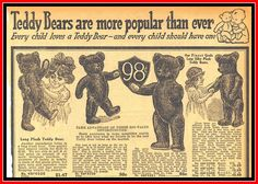 Top half of page, 1916 Sears Christmas, Teddy Bears are more popular than ever by mcudeque, via Flickr