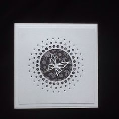 Memory Box large circle burst die, Joanna Sheen butterfly die & DoCrafts Papermania paper