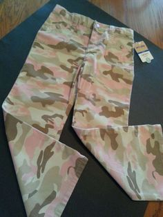 New Carters Girls Pink Camo Pants Adjustable Waist Sz 5 Years Kids NWT Cotton #Carters #CasualPants #Everyday