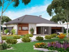 DOM.PL™ - Projekt domu PJK Ka34 CE - DOM GW1-42 - gotowy koszt budowy Gazebo, Outdoor Structures, Outdoor Decor, Home Decor, Kiosk, Decoration Home, Room Decor, Pavilion, Cabana