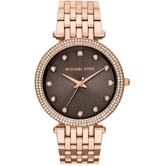 Michael Kors 'Darci' Crystal Bezel Bracelet Watch, 39mm Rose Gold found on Polyvore
