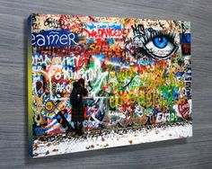 THE EYE ON THE WALL $26.00–$741.00 This loud street art piece shows a whole wall covered in some great graffiti. As with all of our art, its available in a variety of options, the most popular being stretched canvas print, but also rolled canvas (no frame) or printed on paper. http://www.canvasprintsaustralia.net.au/  #CanvasprintBrisbane #photosoncanvasPerth  #CanvasprintsMelbourne