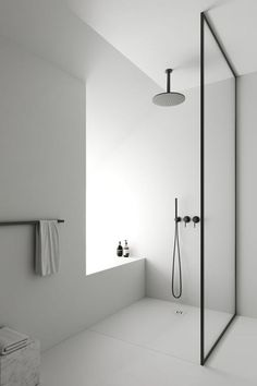 Bathroom decor for the master bathroom remodel. Learn master bathroom organization, bathroom decor suggestions, master bathroom tile tips, master bathroom paint colors, and much more. Minimalist Bathroom Furniture, Modern Bathroom Design, Bathroom Interior Design, Contemporary Bathrooms, Modern Luxury Bathroom, Luxury Shower, Luxury Bathrooms, Dream Bathrooms, Interior Modern