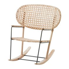 IKEA - GRÖNADAL, Rocking-chair, , Handwoven backrest and seat, making each and every GRÖNADAL one of a kind.Made from rattan and ash, natural materials that age with grace.The transparent woven pattern in the back and seat give the rocking chair an airy look, making it flexible and easy to fit in at home.10 year guarantee. Read about the terms in the guarantee brochure.