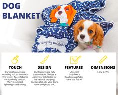 Personalized and customized products for your dog - including an adorable dog blanket!