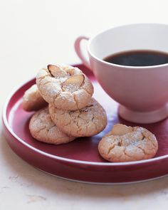 Crisp and light, these crunchy cookies are made with almond paste. Add a dash of powdered sugar for Pinterest-worthy panache.