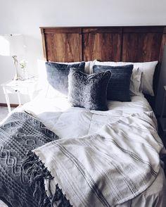 Rustic & grey bedroom