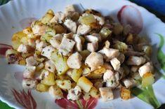Dadolata di pollo e patate con erbe aromatiche