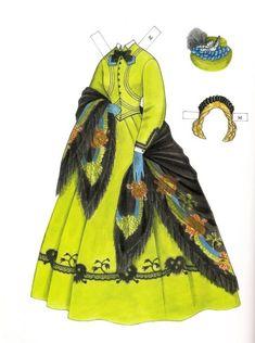 1860~1879년대의 의상이 컨셉인 종이인형을 소개해 드릴께요^^ 화려하고 로맨틱한 의상에 맞게 헤어스타일...