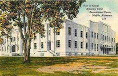 Brookley Field Alabama AL 1940s Recreation Center Antique Vintage Postcard