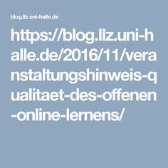Veranstaltungshinweis: Qualität des offenen Online-Lernens