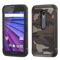 MYBAT Dual Armor Motorola Moto G 3rd Gen Case - Camouflage Gray