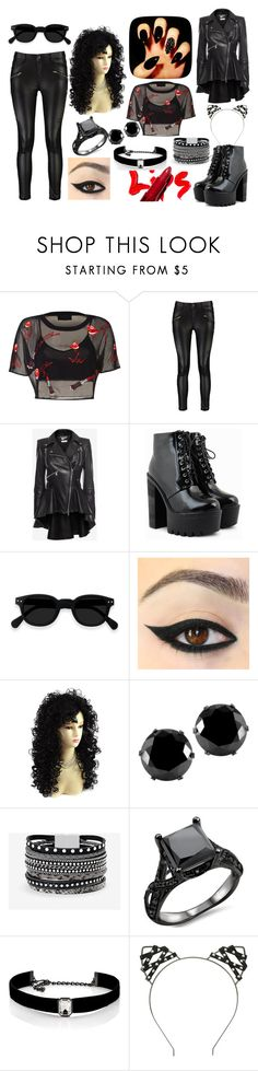 """""""#hp_lexi_witch.kittens"""" by ronnie-555 on Polyvore featuring Nasty Gal, Alexander McQueen, West Coast Jewelry, White House Black Market, Kenneth Jay Lane and Hot Topic"""