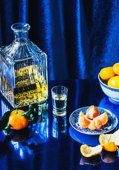 Orange liquor and tangerines by Carmen Palma - Stocksy United Coffee Tasting, Coffee Cafe, Still Life Photography, Food Photography, Cocktail Photography, Life Paint, Coffee Pictures, Orange Recipes, Great Coffee