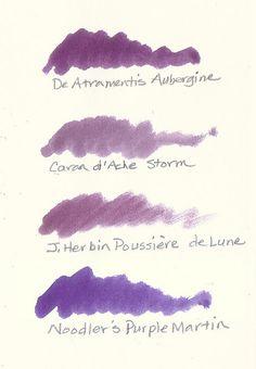 Dusky Purple Fountain Pen Inks by inkophile, via Flickr