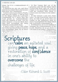 Scriptures Can Calm | Creative LDS Quotes
