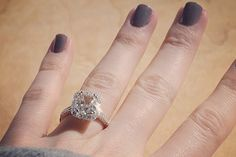 9 Engagement Ring Selfies We're Gushing Over #refinery29  http://www.refinery29.com/engagement-ring-selfie-photo#slide7