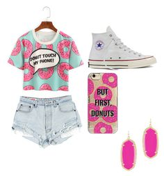 Donuts by egloomis on Polyvore featuring polyvore, fashion, style, Converse, Kendra Scott, Agent 18 and clothing