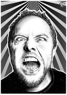 Lars Ulrich Metallica von Tattooteddy auf Etsy