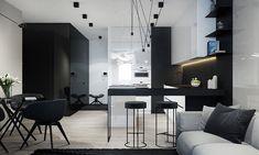 Cucina nera di design 23