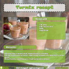 Egy finom almás turmix receptje #turmix #recept Ale, Smoothies, Minden, Fruit, Drinks, Health, Food, Beverages, Health Care