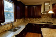 Pacifica Door Style Kitchen Cabinets and finished kitchen by Kitchen Cabinet Kings at www.kitchencabinetkings.com - Buy Kitchen Cabinets Online and Save Big with Wholesale Pricing! #kitchen #cabinets #home #cabinetry