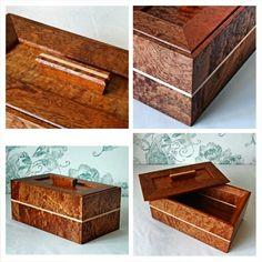 Figured sapele and maple keepsakes box. Keepsake Boxes, Keepsakes, Decorative Boxes, Souvenirs, Home Decor Boxes
