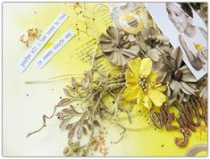 """2 Crafty Chipboard : My November DT Reveal - Part One""""Our Sweet Girl""""By Di Garling"""