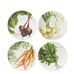 Farmers' Market Salad Plates, Set of 4